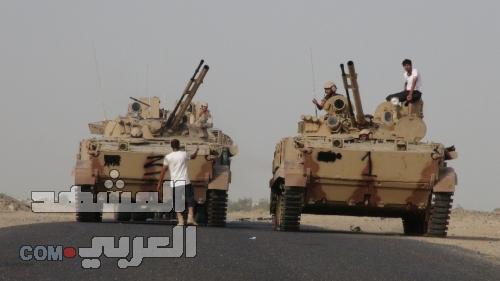 بدعم واسناد القوات المسلحة الاماراتية.. وصول معدات واليات ثقيلة الئ مدينة الخوخة استعداداً لتحرير  الحديدة