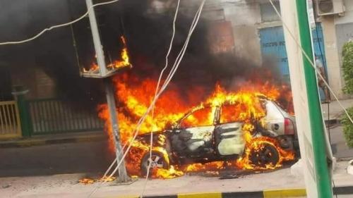 انفجار عبوة ناسفة بسيارة في المعلا
