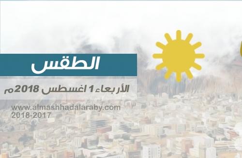 تعرف على درجات الحرارة وحالة الطقس في العاصمة عدن ومحافظات الجنوب الأربعاء 1 اغسطس 2018م ( انفوجرافيك )