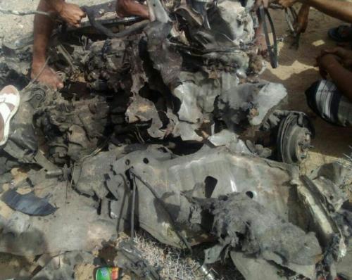 بالصور.. انفجار سيارة مفخخة بمودية.. وإصابة ثلاثة جنود