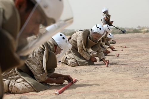 المشروع السعودي لنزع الألغام ينزع 919 لغماُ وعبوة ناسفة خلال أسبوعين