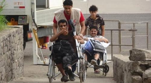 عودة «14» جريحا يمنيا من الهند تلقوا العلاج على نفقة الإمارات