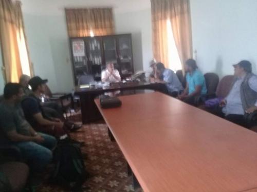 منظمة اليونسيف تزور  الشعيب و تلتقي المدير العام وعدد من كوادر المديرية