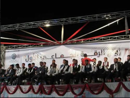برعاية المحافظ البحسني مدينة الشحر تشهد عقد نكاح 52 عريساً وعروسة