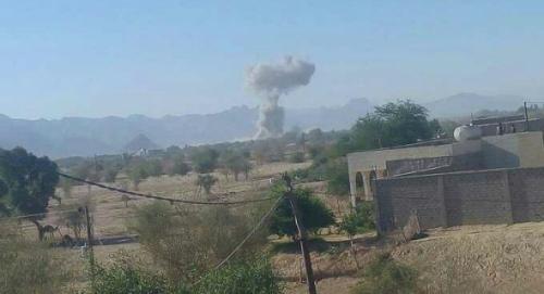 طائرات التحالف العربي تدمر مخزن أسلحة للحوثيين في الحديدة