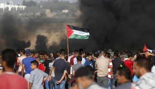شهيد و 110 مصابين برصاص الاحتلال في قطاع غزة