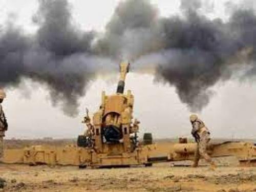 قصف مدفعي للمليشيات الحوثية بمديرية رازح