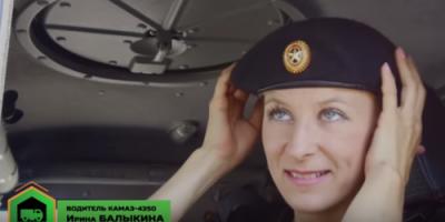 حسناوات الجيش الروسي يقدن الآليات العسكرية! (فيديو)