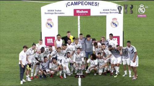 بالصور: ريال مدريد بطلا لكأس سانتياجو برنابيو على حساب ميلان