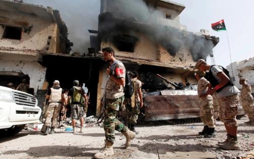 حفتر: قطر تستخدم الميليشيات شوكة في خاصرة ليبيا