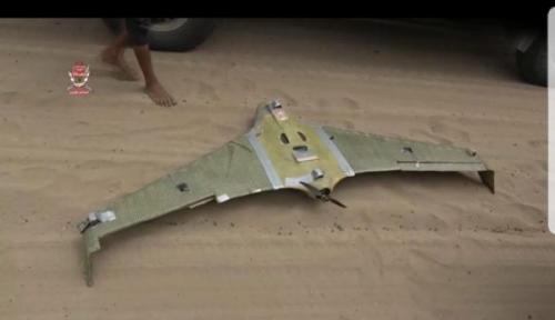 """قوات العمالقة تسقط طائرة تابعة للحوثيين في جبهة الدريهمي  """" صورة """""""
