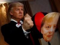 "ترامب يضرب ميركل في متحف ببرلين ""صور"""