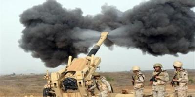 القوات السعودية تقصف مواقع حوثية برازح