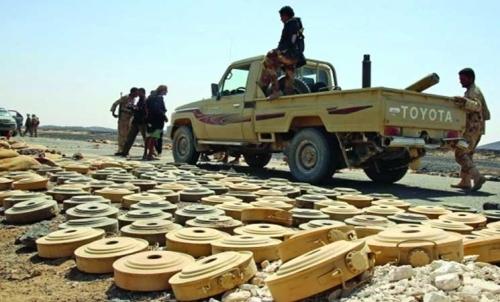 """فرق  """"مسام""""  تواصل عمليات نزع الألغام في مناطق محافظة مأرب"""