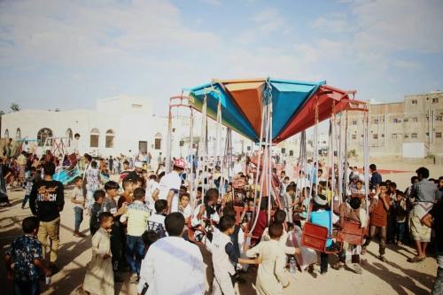 مهرجانات إماراتية للاحتفال بالعيد في شبوة ( صور)