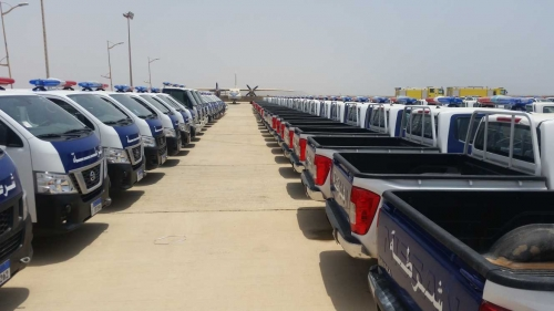 البحسني يتسلم مركبات ومعدات لأمن حضرموت: ليس غريبًا على الإمارات تقديم هذا الدعم