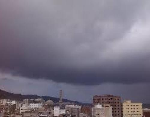 بدء عواصف رعدية مصحوبة ببرق في المكلا