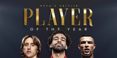 يُكشف عن الفائز اليوم.. صلاح ينافس رونالدو ومودريتش على جائزة أفضل لاعب بأوروبا