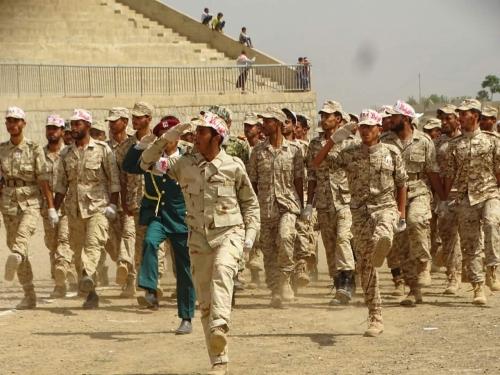 عرض عسكري من القوات الجنوبية بالضالع (صورة)