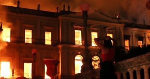 شاهد.. 10 معلومات عن متحف البرازيل الوطني بعد حرقه