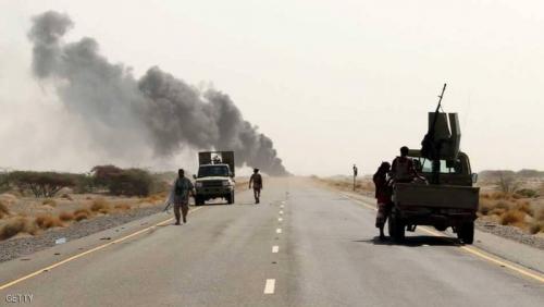 64 بين قتيل وجريح من الميليشيا الحوثية في غارات جوية استهدفت مواقعها في الحديدة
