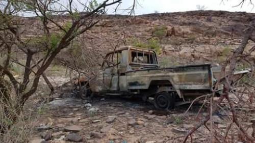 التحالف العربي يدمر طقمين ويقتل 7 حوثيين بمأرب
