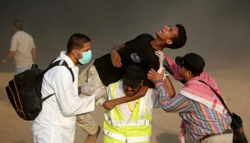 استشهاد شاب برصاص الاحتلال الإسرائيلي جنوب غزة