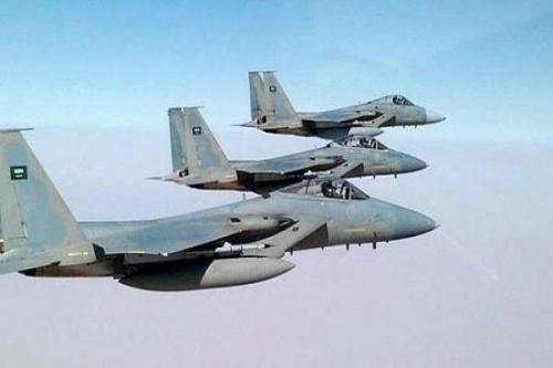 مقاتلات التحالف تقصف  مواقع ميليشيا الإنقلاب شمال الجوف