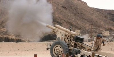 مدفعية الشرعية تحصد 6 من مليشيات الحوثي في الضالع