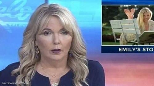 على الشاشة.. مذيعة أميركية تقرأ أكثر تقرير مؤلم بحياتها