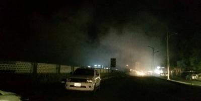 اندلاع حريق بمستشفى الجمهورية في خور مكسر.. صور