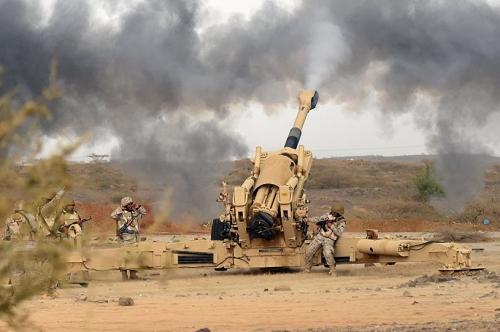 الحرس السعودي يقصف مواقع للمليشيا في شدا