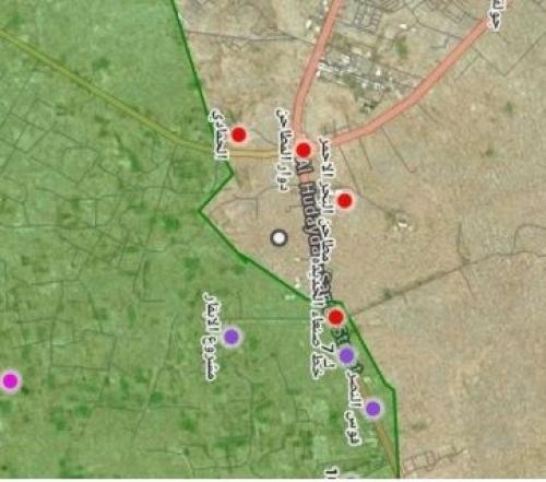 أحدث خريطة تفصيلية تكشف سير معارك الحديدة (صورة)