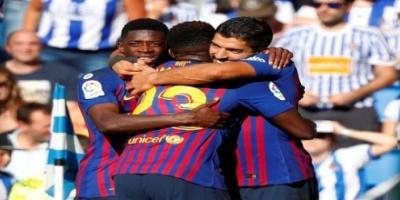 بهدفين في 3 دقائق.. برشلونة يعبر ريال سوسيداد في الدوري الإسباني