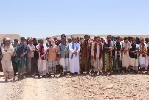 شاهد.. زواج جماعي لـ 120 عريسا في غيل بن يمين بحضرموت
