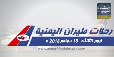 انفوجرافيك.. هذه مواعيد رحلات الخطوط الجوية اليمنية ليوم  غداً الثلاثاء