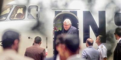 غريفيث يُغادر صنعاء بعد زيارة دامت ثلاثة أيام