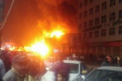 شاهد.. حريق في المستشفى اليمني الألماني بصنعاء