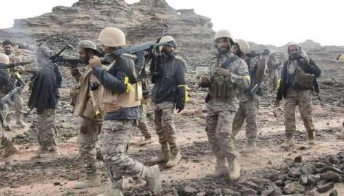 الجيش يعثر على30 جثة للمليشيات خلال تمشيط محيط باقم
