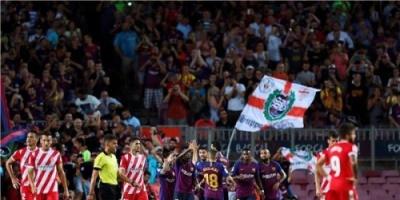 بالصور..جيرونا يوقف سلسلة انتصارات برشلونة بتعادل مثير