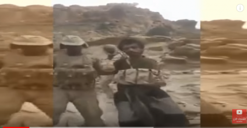 شاهد.. لحظة أسر القوات السودانية لمقاتل حوثي