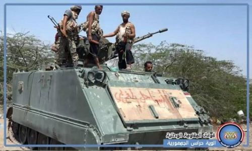 القوات المشتركة تستعيد أسلحة ثقيلة من وكر المليشيات في الحديدة