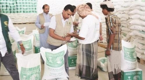 مركز الملك سلمان يدشن مشروع توزيع 10500 سلة غذائية في مأرب