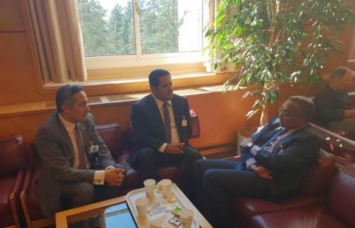 وزير حقوق الإنسان يلتقي ممثّل المفوضية السامية لحقوق الإنسان لدى بلادنا