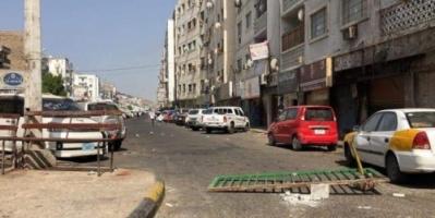 شاهد.. شلل تام بشوارع مديريتي المعلا وصيرة بسبب الإضراب العام