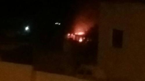 اندلاع حريق في مبنى عمليات المنطقة العسكرية الرابعة بالتواهي