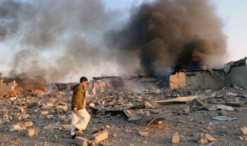 غارات جديدة للتحالف العربي على تلك المنطقة بصنعاء