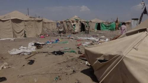 ماذا قال رئيس اللجنة العليا للإغاثة عن قصف الحوثيين مخيم الخوخة؟