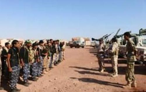 بالصور.. وصول تعزيزات عسكرية ضخمة إلى عدة مواقع بمديرية رضوم
