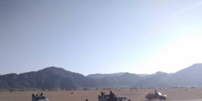 """قوات النخبة الشبوانية تسيطر على معسكر """"مرة"""" بمديرية نصاب"""